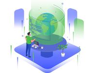 Worldwide Programming Illustration