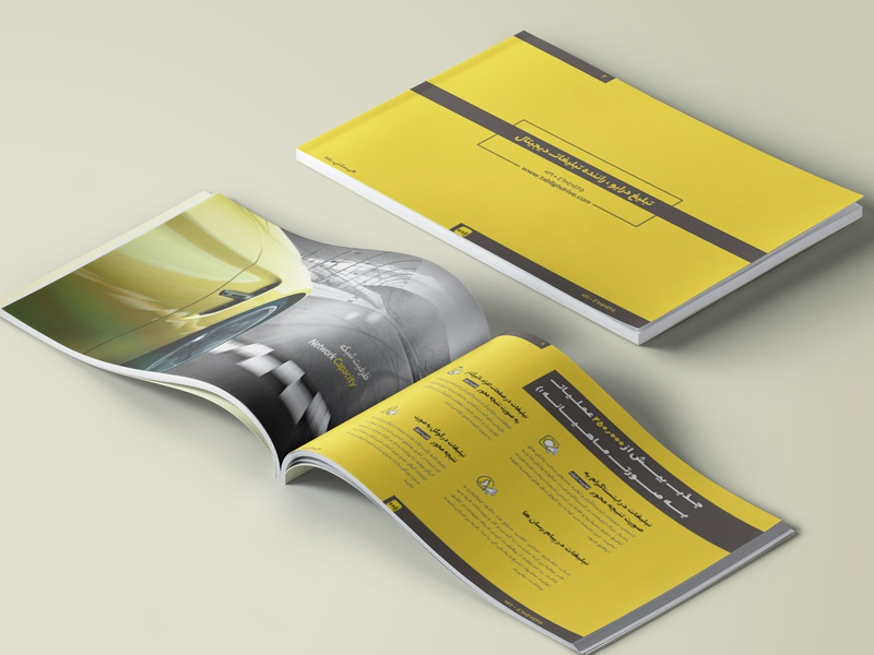 TablighDrive Catalog Mockup book yellow mockup adobe indesign brochure layout brochure design brochure catalog brand and identity branding graphic  design design
