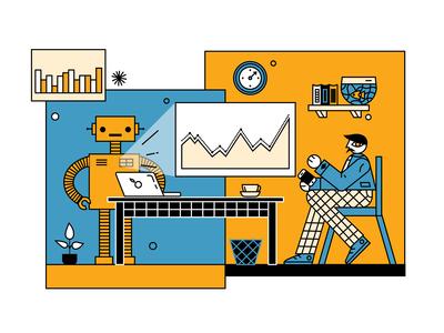 Collaboration and work illustration