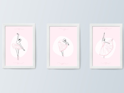 Ballet Decorative Illustrations