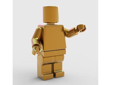 Golden Lego 3D Model blender3dart blender 3d blender 3d model keyshot 7 keyshot zbrush pixlogic zbrush legos golden lego 3d art 3d