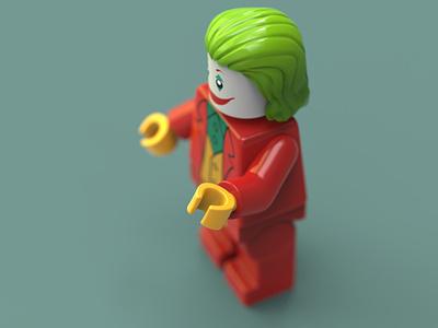 Joker Lego 3D Model harley quinn new joker design art joker lego legos lego zbrush 3d artist blender3d 3d art 3d model zbrush pixlogic joker joker movie