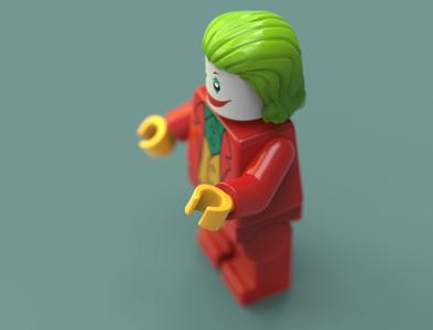 Joker Lego 3D Model