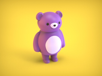 My Little purple teddybear keyshot 9 keyshot character design character graphic  design design zbrush pixlogic doll bear teddy bear 3d art 3d purple blender zbrush teddybear