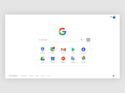 Google search page Redesign Concept