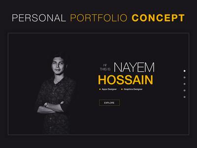 Personal Portfolio Landing Page Concept