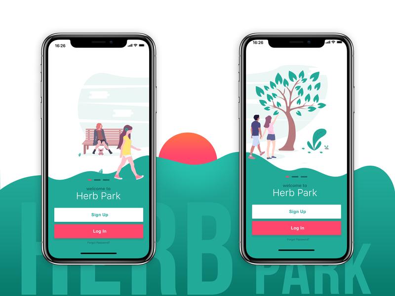 Herb Park dope bold best design app 2018 adobe typography vector landing page design ux minimalistic framer x illustration ui  ux design ui 100 sketch ui flat branding