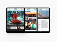 Web Layout for iPad App