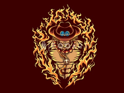 Portgas D. Ace animated one piece animation onepiece cool pirate action manga anime awesome illustrator graphicdesign illustration artist art illustration artwork vector inspired design