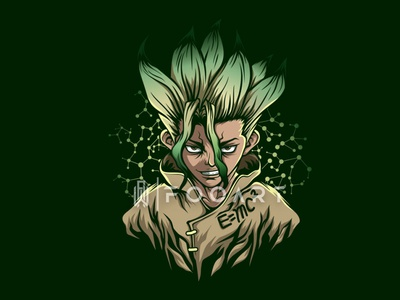 Dr. STONE cool genius action sci-fi adventure illustrator graphicdesign illustration artist art illustration artwork vector inspired design animation manga anime