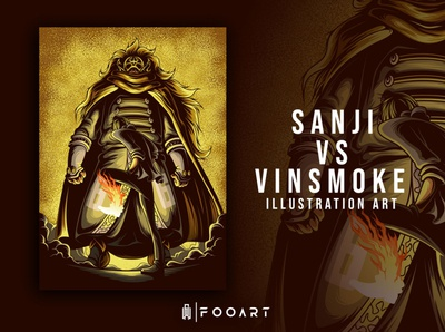 Sanji VS Vinsmoke Judge (ONEPIECE) adventure super power onepiece pirate action artist anime studio characters animation japan fanart anime graphicdesign art illustration artist illustration artwork vector inspired design