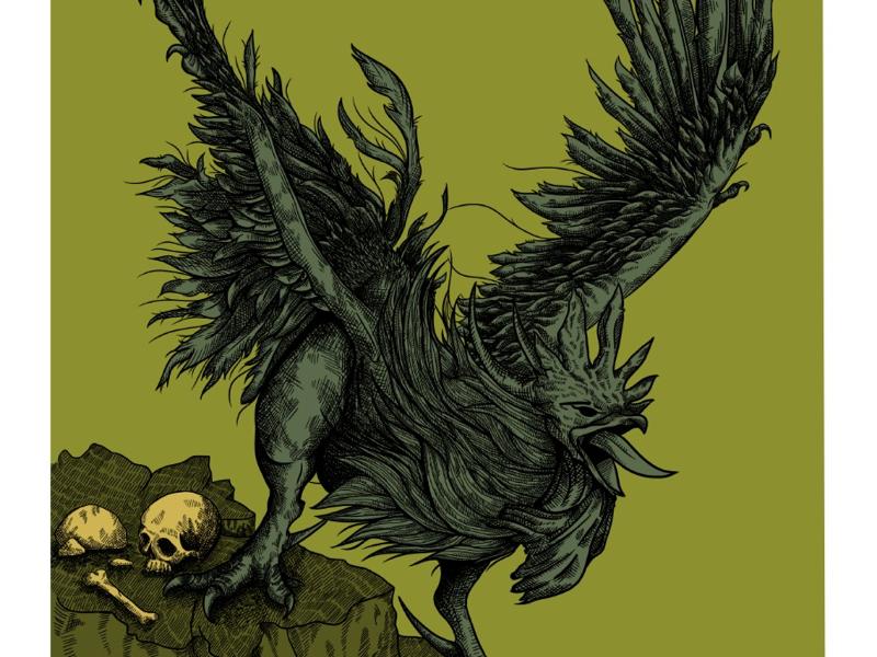 Cockatrice color version illustration
