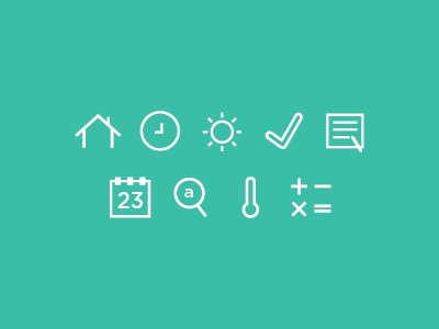 minimal utility icons - wired