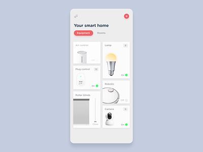 Smart home app interface animation animation smart smart home minimal clean minimalistic mobile app ux ui