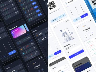 Crypto Exchange Trading App mobile uiux money app dark theme dark crypto mobile.mobile design crypto wallet ux ui