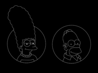 Negative Simpsons