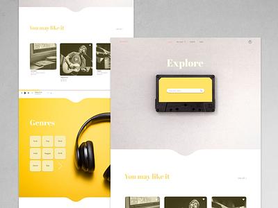 Music Website clean website minimalistic minimalism minimalist minimal music player music