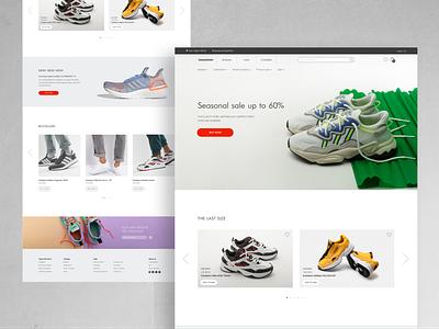 Sneakers Shop minimalistic minimalism minimalist minimal home page homepage shopper shop sneakers