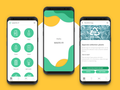 Zero waste lifestyle application minimalism clean minimalistic recycling recycled recycle waste garbage green application app eco ecological ecologic ecology zero waste zerowaste