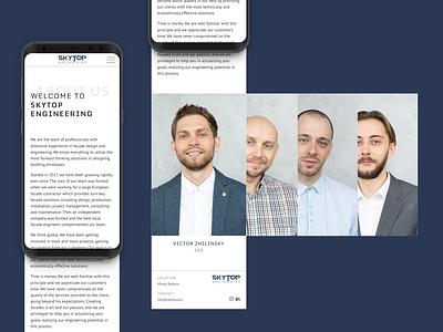 Skytop Engineering website (mobile version) mobile design mobile webdesign web design website ux ui design clean minimalistic minimal