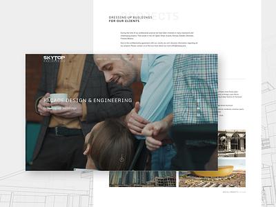Skytop Engineering website clean desctop architect architecture website design web design webdesign website ux ui