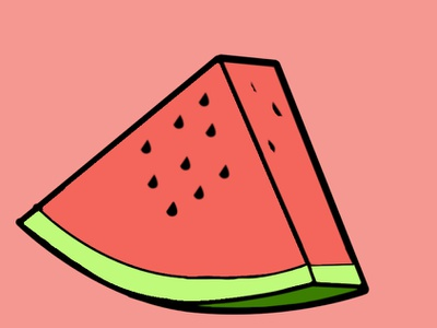 Water Melon illustration photoshop image editing