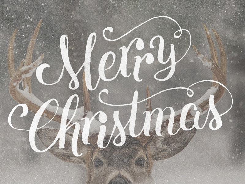 Merry Christmas, y'all! christmas hand lettering advent