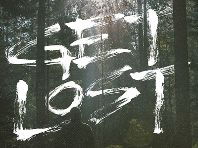 GET LOST project365 brushscript typography lettering handlettering