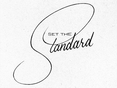 Set the Standard project365 brushscript typography lettering handlettering