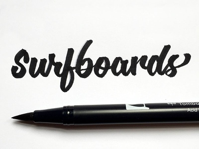 Surfin' USA project365 brushscript typography lettering handlettering