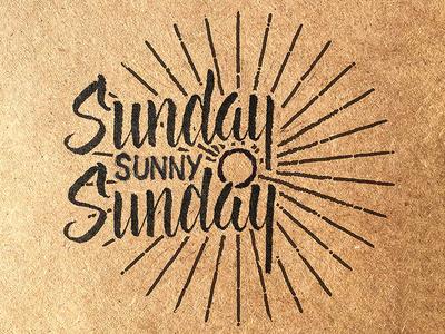 Sundayyyyyyyyy, Sunny Sundayyy
