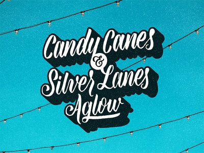 Candy Canes & Silver Lanes Aglow christmas letters hand lettered christmas hand lettered advent advent christmas brush lettering script lettering hand lettering
