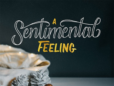You Will Get a Sentimental Feeling christmas letters hand lettered christmas hand lettered advent advent christmas brush lettering script lettering hand lettering