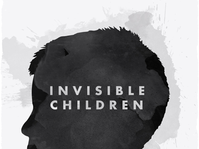 Invisible Children invisible children poster texture watercolor futura