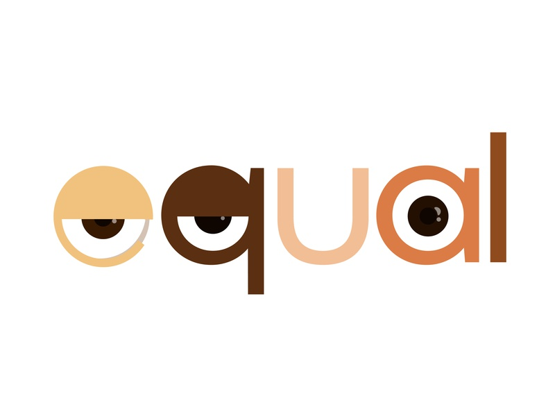 EQUAL nations world illustrator aftereffects dribble racial races equal animation eyes equality typography design illustration graphic artist adobeillustrator graphic  design adobe behance