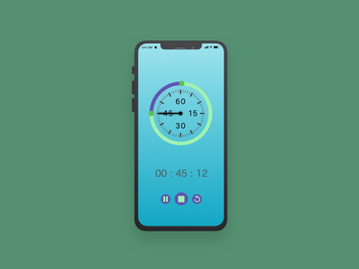 Daily UI #014 - Countdown Timer blockcolors photoshop dailyui sketch