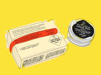 Althaea cream illustration