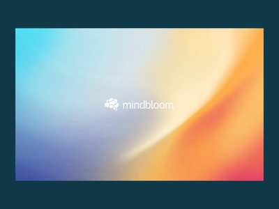 Mindbloom Landing Page Scroll ux ui ui design web design website gradient landing digital hompage video web