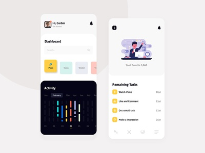 Takasi - Mini Task Mobile Apps UI UX Design task manager ios app mobile task minimal icon flat illustration branding vector typography ux clean animation ui