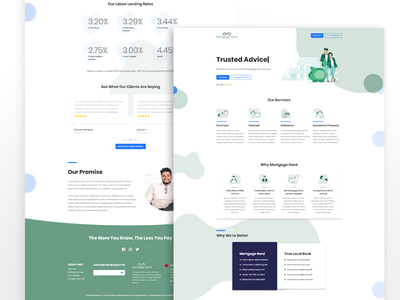 Landing Page UI Design with Web Development for Mortgage Nerd wordpress theme wordpress templates wordpress development wordpress website web  design web ux ui ux design ui ux ui pack ui landing page jquery html 5 design css3 bootstrap 4 adobe photoshop cc adobe