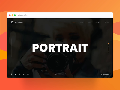 Photography Service Website UI Concept wordpress html css css html animation web design website concept website web ux uidesign ui typography photographer photography minimal layout landing page design landingpage clean
