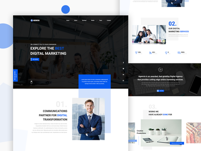 Digital Agency Website UI Concept