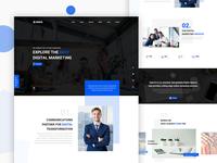 Digital Agency Website UI Concept
