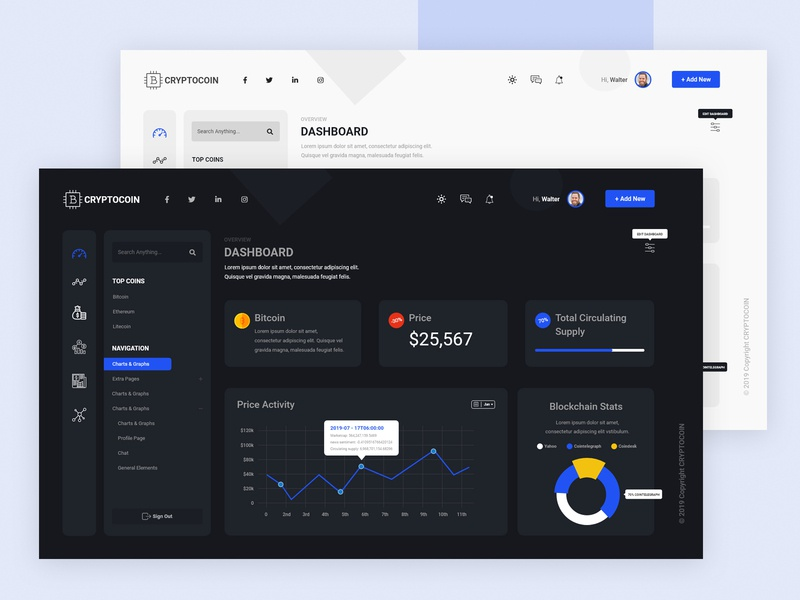 Cryptocoin - clean dashboard ui ux design web design crypto website dashboard ui dashboard clean animation ux ui ux ui design ui