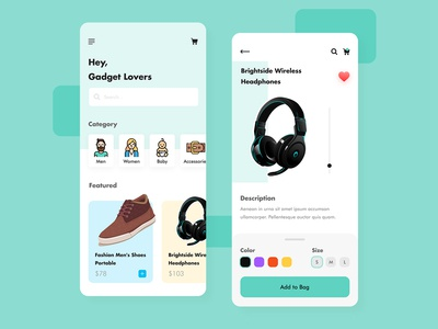 Shoppary - Shop Mobile Apps UI UX Design