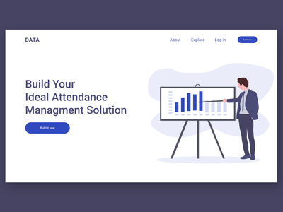 landing page for a data collection company