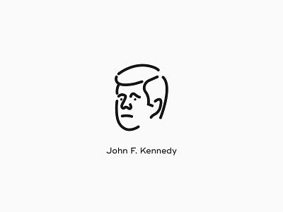 Kennedy poster icon design
