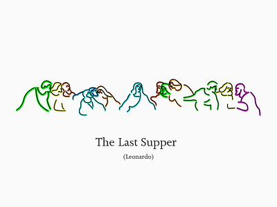 The Last Supper (Leonardo) vector poster design