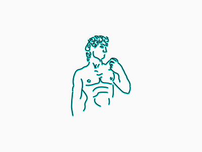 David (Michelangelo) linear david statue
