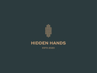 Hidden Hands logo design logotype hlogo monogram hand hands logo